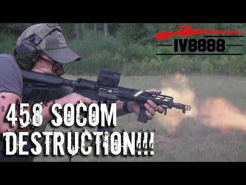 Full Auto 458 SOCOM Destruction!