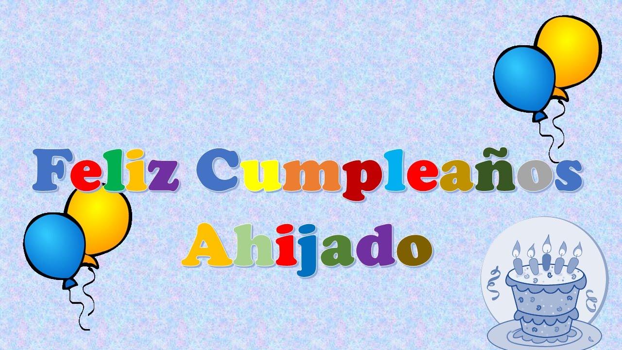 Tarjeta u2013 postal virtual animada de feliz cumpleaños u263aAhijado YouTube
