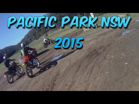 Pacific Park NSW Motorcycle Park Dirt Bike Footage South Maroota