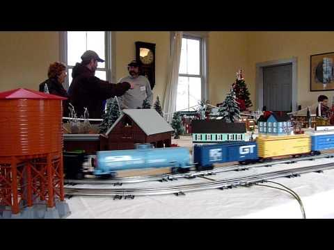 Grand Trunk Western train on Winter O Gauge layout