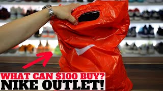 What Can $100 BUY From The NIKE OUTLET? (Extra 30% OFF Everything!)