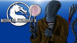 Mortal Kombat X - Ep 18 (Alien Vs Predator) 7 Inches of Dangling Death!