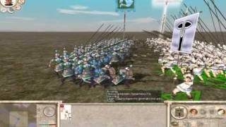 Rome Total War: Experiment #4 (Silver Shield Pikeman vs Heavy Spearmen)