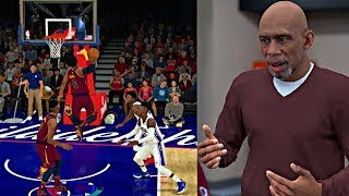 CRAZY SPIN DUNK THAT NEVER BEEN SEEN BEFORE! KAREEM TEACHING ME HOW TO SCORE! - NBA 2K19 MyCAREER