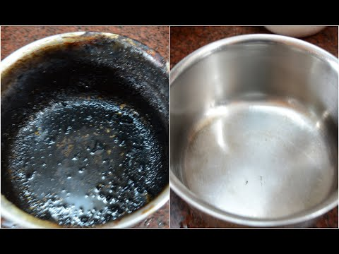 How to clean burnt vessel