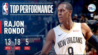 Rajon Rondo Dishes 18 Assists in Win vs. 76ers   December 10, 2017