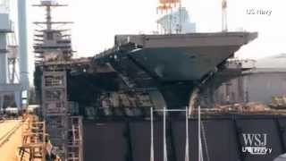 Time-Lapse Video: Building a Navy Aircraft Carrier
