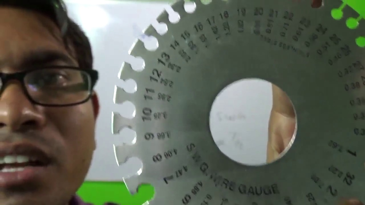 standard wire gauge size calculation - YouTube