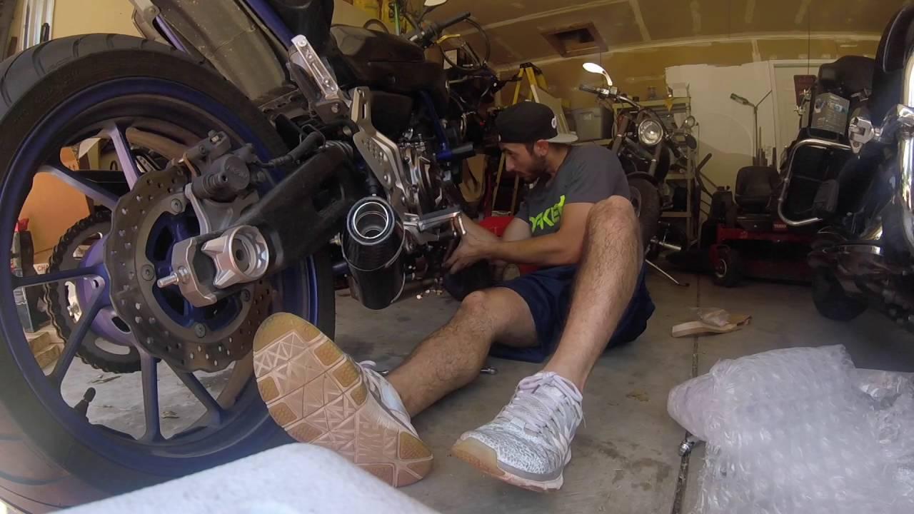 m4 exhaust insatll on 2015 yamaha fz 07