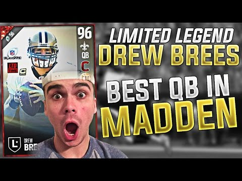 WE GOT BRAND NEW LEGEND LIMITED EDITION DREW BREES! BEST QB IN MUT! MADDEN 17 ULTIMATE TEAM