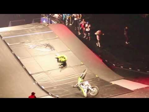 Bruce Cook Double Front Flip Attempt: Nitro Circus Canada - Slowmo