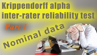 Nominal dichotomous yes/no data: Krippendorff alpha inter-rater reliability