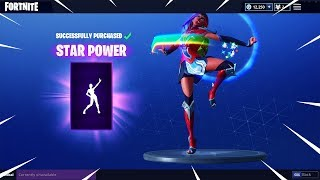 "NEW ""STAR POWER"" Dance Emote Showcased with 42 Skins 