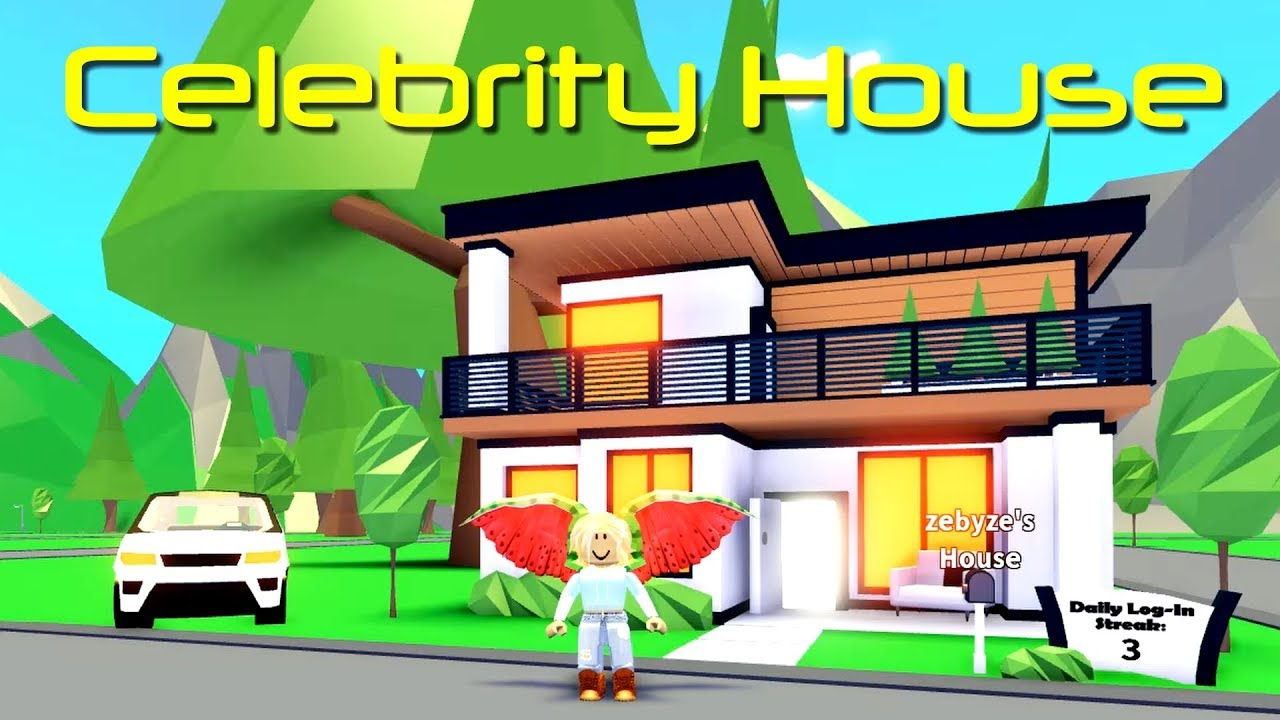 Adopt Me Celebrity House Tour Adopt Me Update Youtube