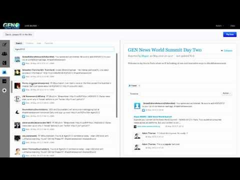 GEN Live Desk - open source live blogging tool - Screencast
