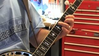 LOTW - Banjo lessons: Pentatonic scales - Three shape outline