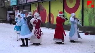 Новогодний флешмоб 2013   Акция 'Дарим улыбки' детский праздник, г Выкса online video cutter com