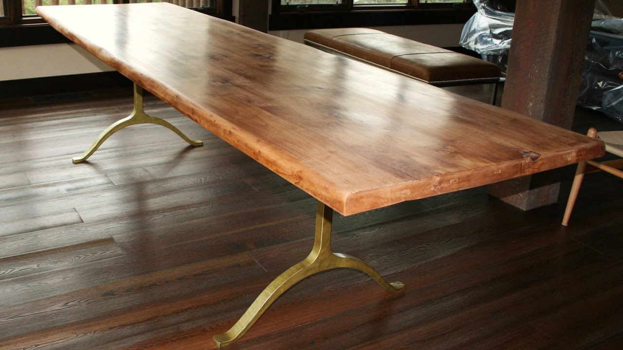 Wood dining table legs - Rustic Wood Dining Table With Metal Legs Designs