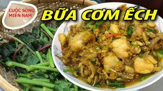 Vietnamese food: fried frog (Ech Xao Sa Ot)