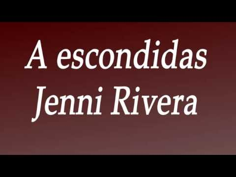 A escondidas - Jenni Rivera (Lyrics)