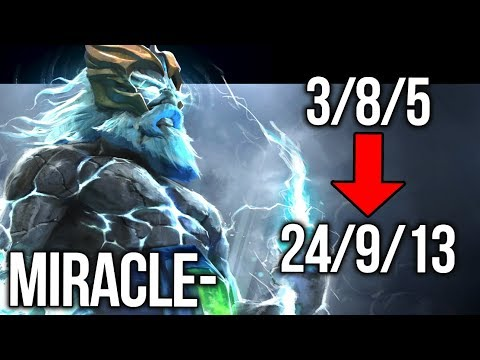 Miracle- Zeus From FEED to GOD EPIC 9k MMR Gameplay - Dota 2