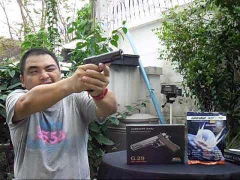 ปืนอัดลมสปริง G29 หรือ m1911 โลหะทั้งตัว