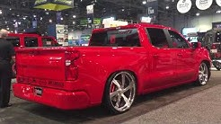 2019 Chevy Silverado lowered with Belltech sport suspension stagger fit wheels