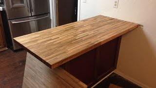 Install Butcher Block Countertop Island (& Remove Old Countertop)