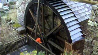 Water Wheel Working At 'pant Yr Ynn' Woolen Mill