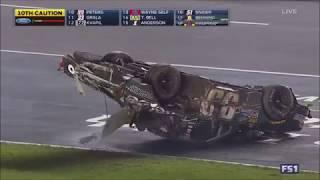 Timothy Peters Huge Flip - NASCAR Trucks 2017 Texas