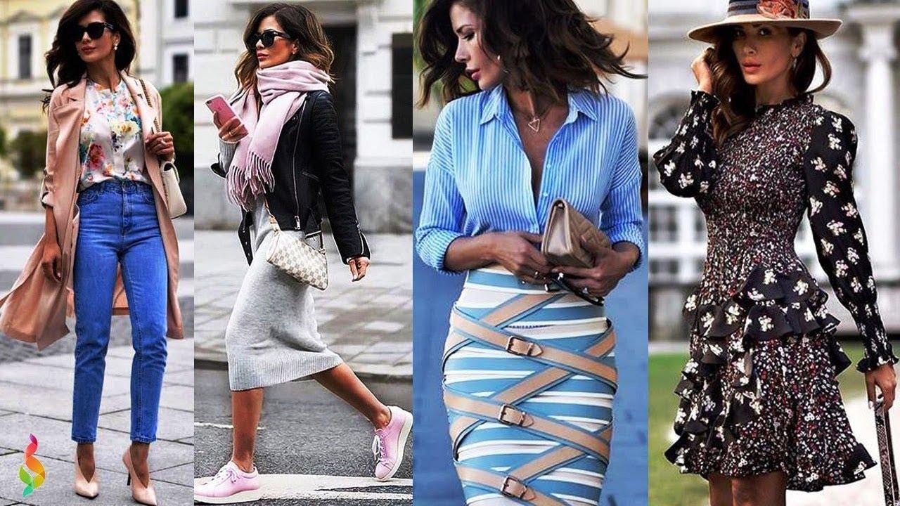 Стильные casual образы весна-лето 2019 Модный кэжуал лук в одежде для женщин фото Casual look стиль кэжуал девушки