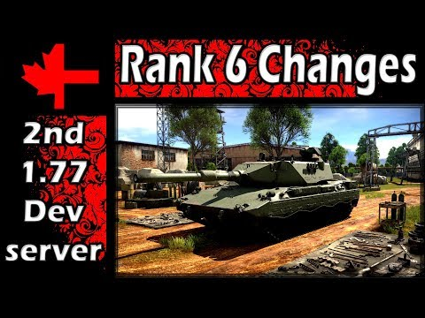 War Thunder - 2ⁿᵈ Dev Server - Update 1.77 - Rank 6 Vehicle Changes