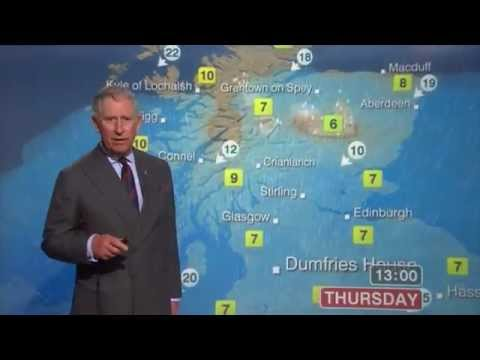 """Prince Charles & Camilla Do the Weather: """"Who the Hell Wrote This Script"""" (HQ)"""