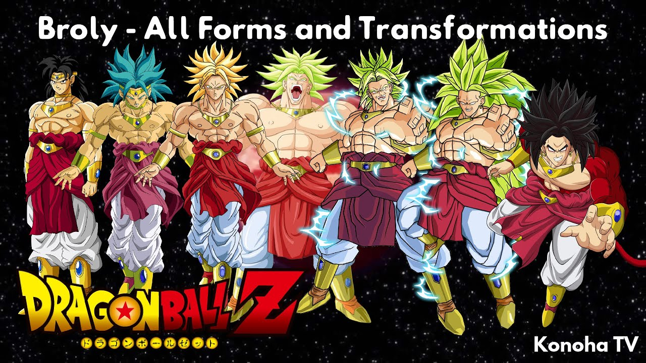 Broly - All Forms and Transformations (Dragon Ball Z ...