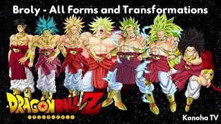 Broly - All Forms and Transformations (Dragon Ball Z - Dragon Ball Heroes)