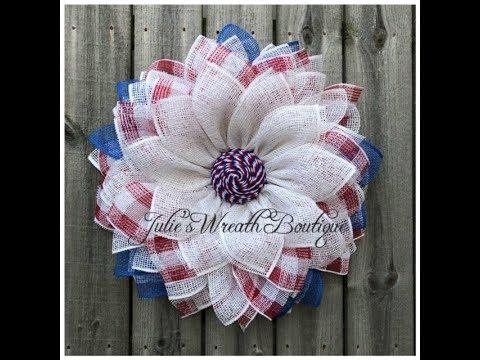 New Spiral Center Patriotic Flower Wreath / Facebook Live Replay