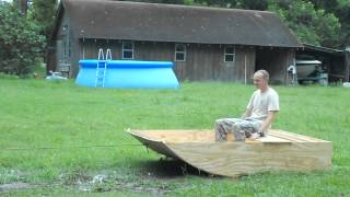 Durability Test For The Micro Airboat Hull.