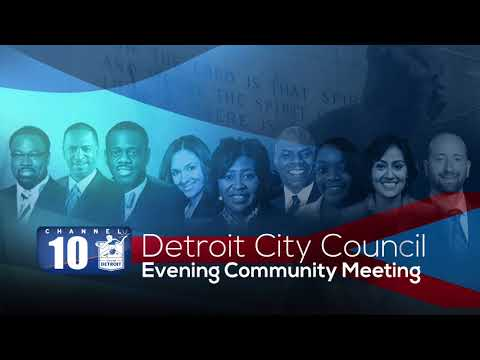 Detroit City Council  Evening Community Meeting - At-Large