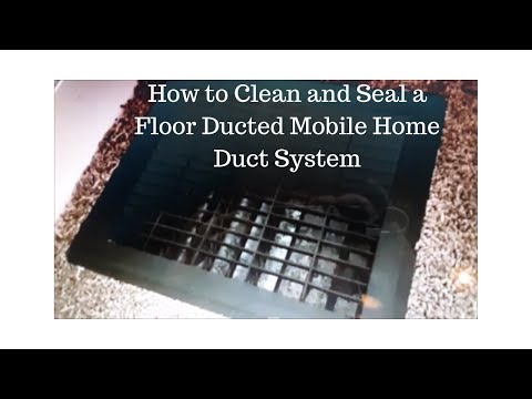 How To Clean and Seal a Mobile Home Duct System