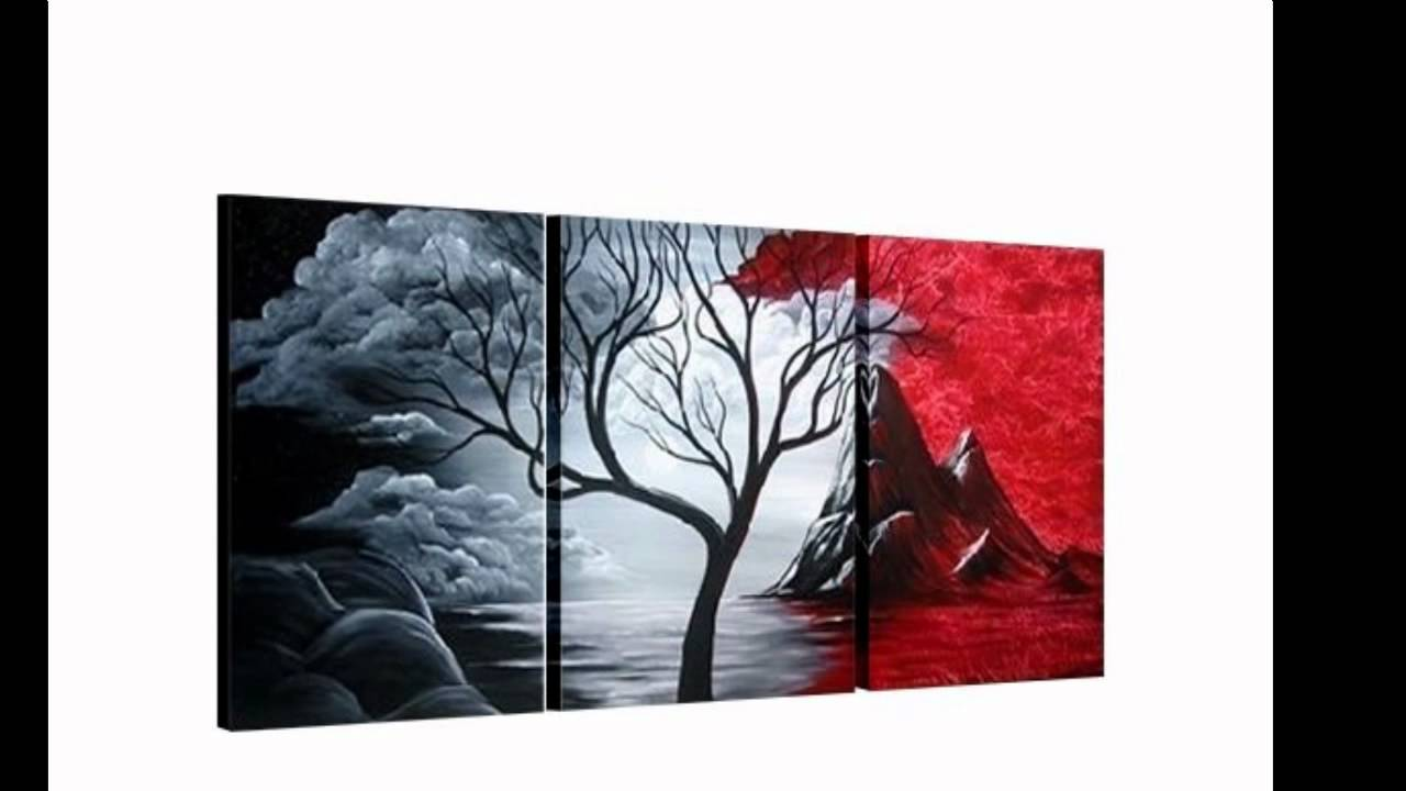 Novedosos cuadros modernos tripticos youtube for Imagenes de cuadros abstractos faciles de hacer