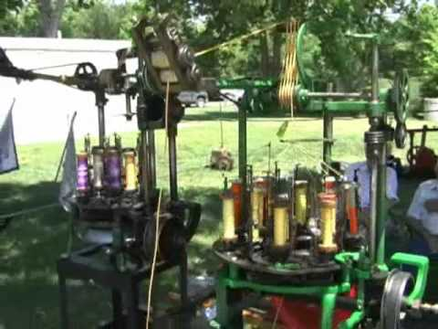 Gas Engine Powered Shoestring Braiding Machine Columbus Nebraska Steam Engine Show Vintage