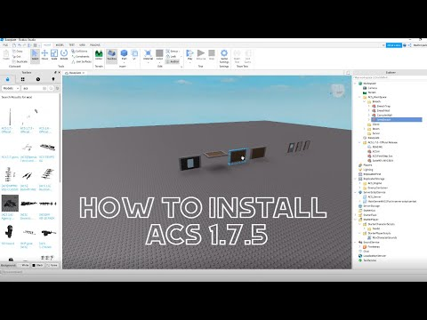 Download How to install ACS 1.7.5    Roblox Studio (2020)