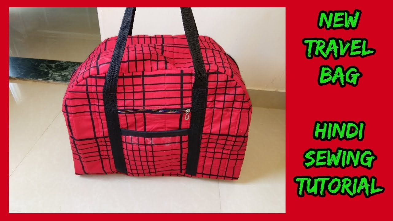 new big travel bag  making cutting sewing stitching  in hindi at home diy- magical  hands bags  2018 0eacd9146d