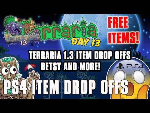 Terraria PS4 Item Drop Off Giveaways - BETSY ITEMS! 1.3.4 ITEMS TOO!