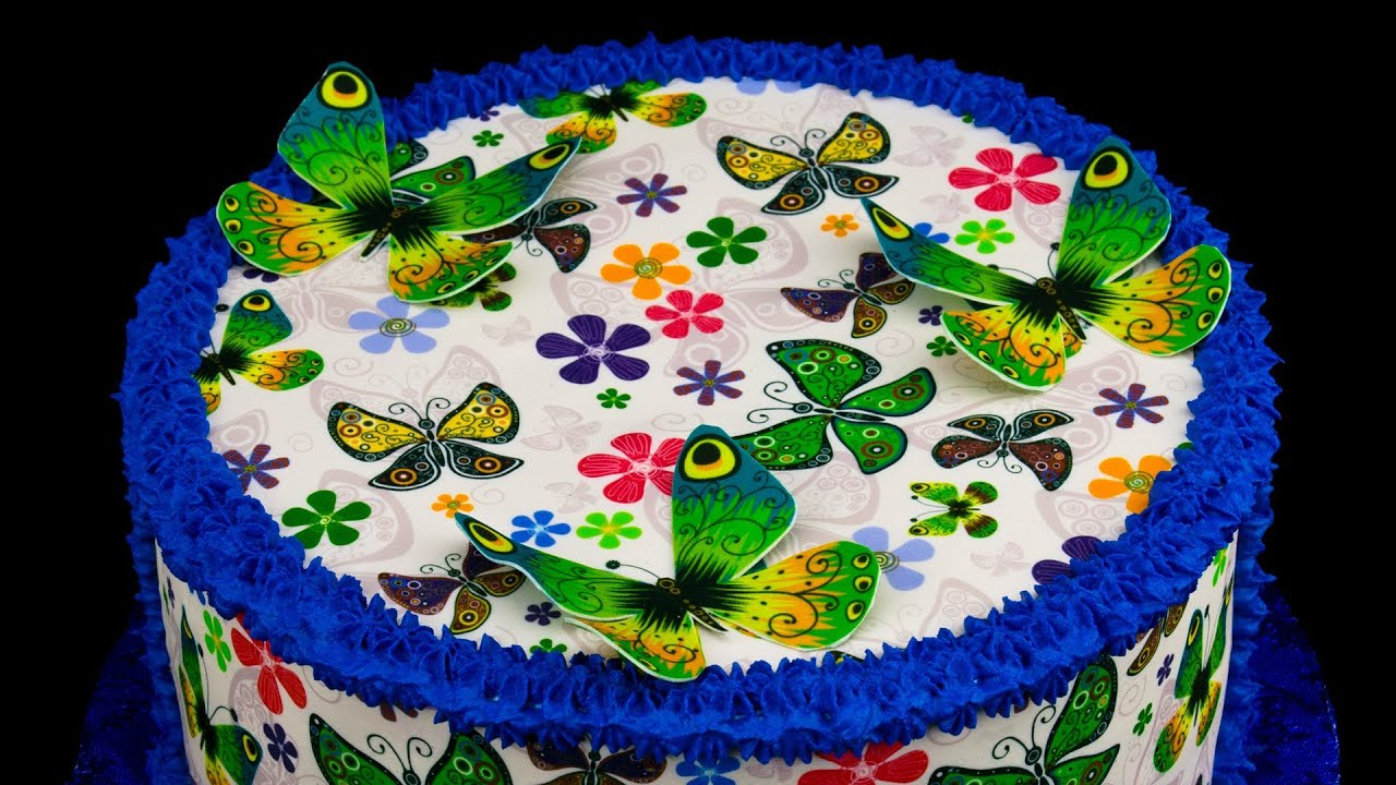 Butterfly Edible Cake Images : Butterfly Cake with Frosting Sheets by Cookies Cupcakes ...