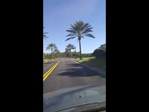 Driving through Golden Oak community in Walt Disney World to the Four Seasons resort