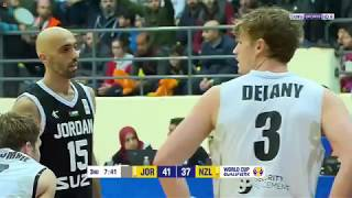 Jordan vs New Zealand 2019 3rd Quarter . الاردن نيوزلاند