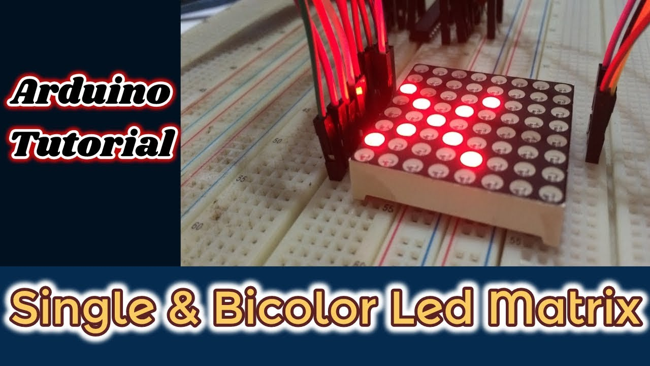 8*8 Single and BiColour Led Matrix Pin Configuration with max7219