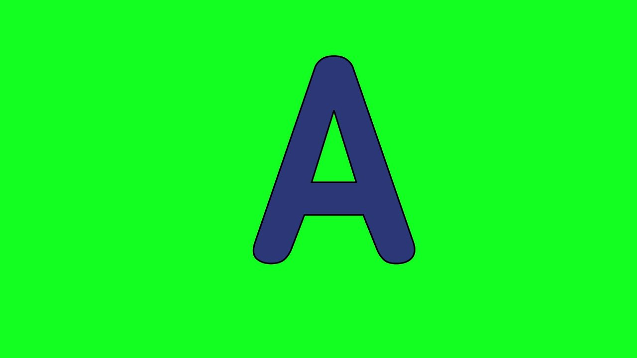 "Animated ""Letter A"" (free to download) - YouTube"