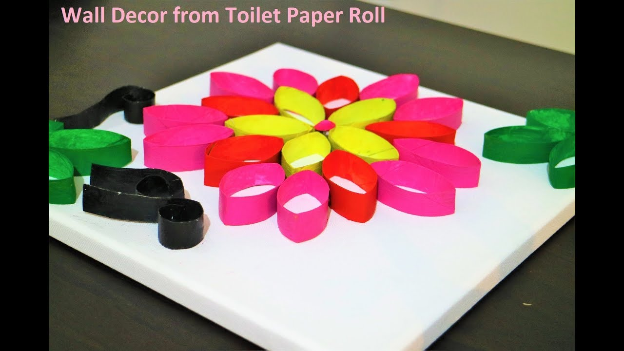 Wall decor using toilet paper rolls (DIY) - Recycled ...